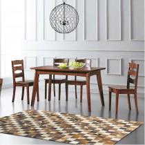 查爾4.3尺實木餐桌椅組(1桌4椅)
