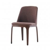 安利革棕胡桃色餐椅/休閒椅