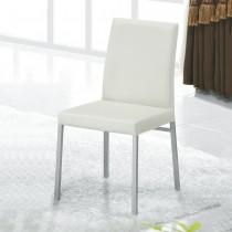 溫妮白色皮餐椅(單只)