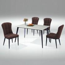 T56型4.3尺餐桌(1桌4椅)