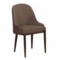 漫致棕色皮餐椅/休閒椅(共兩色)