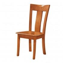 808型柚木色實木餐椅