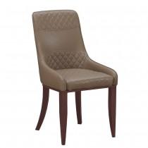 麗昂棕色皮餐椅