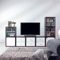 魔術師設計6尺組合電視高低櫃(整組)