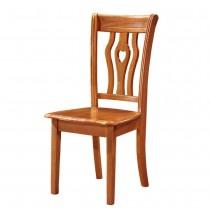 612型柚木色實木餐椅