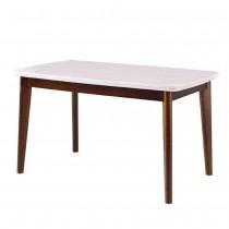 R095型胡桃色石面4.5尺餐桌