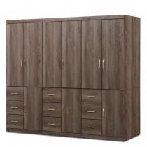 凱爾 8 X 7尺灰橡色衣櫥/衣櫃