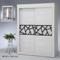 羅浮宮5X7尺衣櫥(旋轉側拉鏡)(共兩色)