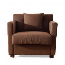 5029型單人座咖啡色布沙發