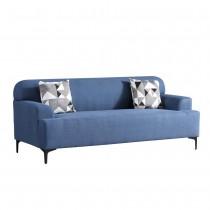 克里森藍色三人布沙發