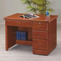 實木樟木色3.5尺書桌/辦公桌(122)
