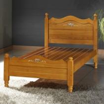 柏拉彩繪3.5尺實木單人床