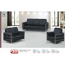 509型黑皮雙人沙發