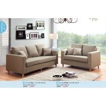 332淺咖(深咖)(綠色)雙人布沙發