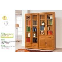 亞緹香檜色5.4尺書櫃組