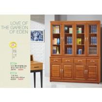 5.3尺樟木色書櫃(全組)