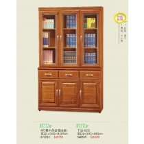 4尺樟木色書櫃(全組)