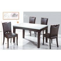 C95繡花4.5尺餐桌椅(1桌4椅)