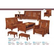 388型樟木色雙人椅