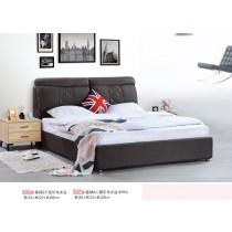 塞納6尺鐵灰布床台(不含床頭櫃)