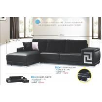S315型南亞透氣皮L型沙發