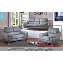 H6010型灰色透氣皮單人沙發