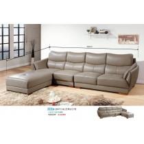 2847文森L型厚皮沙發