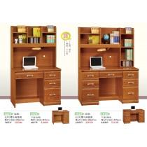 4.2尺樟木色書桌(全組)