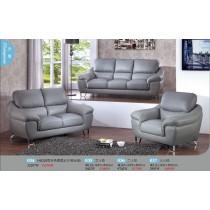 H6010型灰色透氣皮沙發全組