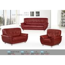 1081型透氣皮三人沙發