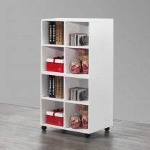 白色8格收納書櫃
