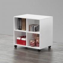 白色4格收納書櫃