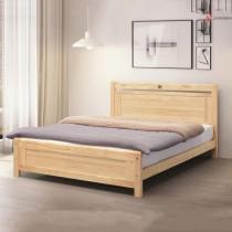諾拉5尺松木雙人床(4分床板)