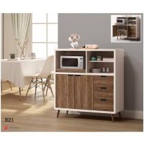 北歐時尚4尺餐櫃/碗盤櫃(B21)