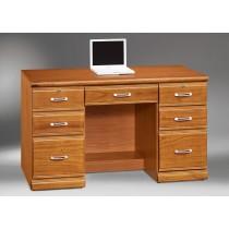 希爾達樟木色實木4.2尺書桌(辦公桌)(下座)