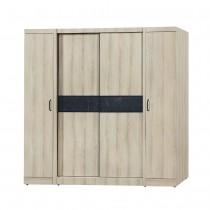 亞倫6.6X7尺推門衣櫥/衣櫃