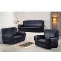 503型黑色皮沙發(整組)
