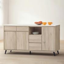 寶雅橡木5.3尺石面餐櫃/碗碟櫃(155)