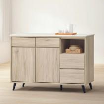 寶雅橡木4尺石面餐櫃/碗碟櫃(154)