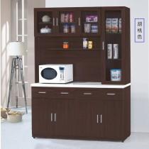 799型5.3尺石面餐櫃/碗盤櫃(全組)(共兩色)