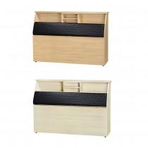 瑞典5尺黑皮面加高床頭箱(共兩色)