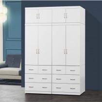 阿諾德 5.4 X 8尺白色衣櫥/衣櫃