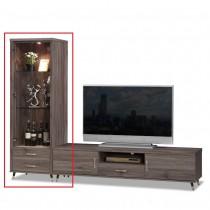 貝克2尺灰橡色展示櫃(不含6尺電視櫃)