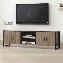 鐵框灰橡6尺電視櫃/長櫃(T102)(共兩色)