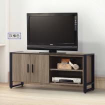 鐵框灰橡4尺電視櫃/長櫃(T104)(共兩色)