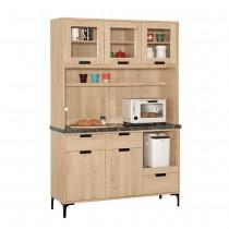斯麥格4尺石面餐櫃/碗盤櫃(全組)