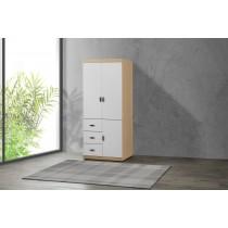 凱爾 2.7 X 7尺雙色衣櫥(白色)