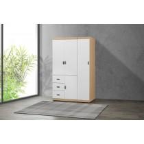 凱爾 4 X 7尺雙色衣櫥(白色)