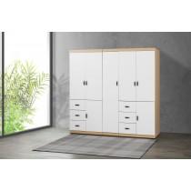 凱爾 7 X 7尺雙色衣櫥(白色)