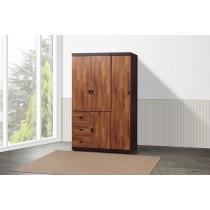 凱爾 4 X 7尺雙色衣櫥(積層色)